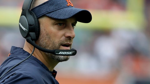 <p>               FILE - In this Aug. 25, 2018, file photo, Chicago Bears head coach Matt Nagy watches during the first half of a preseason NFL football game against the Kansas City Chiefs, in Chicago. The Chicago Bears come into the playoffs with an NFC North title after four straight last-place finishes, nine wins in 10 games and a belief that anything is possible in their first year under Matt Nagy. He already has more wins than any other rookie coach in franchise history. More important, he has made Sundays fun again in Chicago.  (AP Photo/Annie Rice, File)             </p>