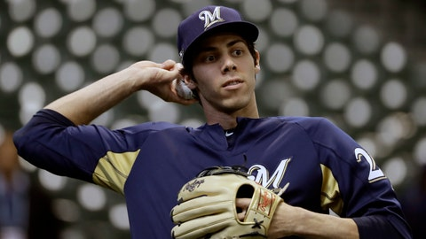 <p>               FILE - In this Oct. 12, 2018, file photo, Milwaukee Brewers' Christian Yelich warms up before Game 1 of the National League Championship Series baseball game against the Los Angeles Dodgers in Milwaukee. After falling one game short of their first World Series appearance since 1982, there is plenty of pressure on the Brewers to build on that success and take another step forward in 2019. Nobody on the roster is likely to feel that pressure more than Yelich, whose record-breaking performance down the stretch fueled Milwaukee's postseason run and earned the National League's Most Valuable Player award. (AP Photo/Matt Slocum, File)             </p>