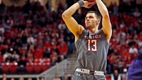 <p>               Texas Tech's Matt Mooney (13) shoots the ball for three points during the first half of an NCAA college basketball game against Kansas State, Saturday, Jan. 5, 2019, in Lubbock, Texas. (AP Photo/Brad Tollefson)             </p>