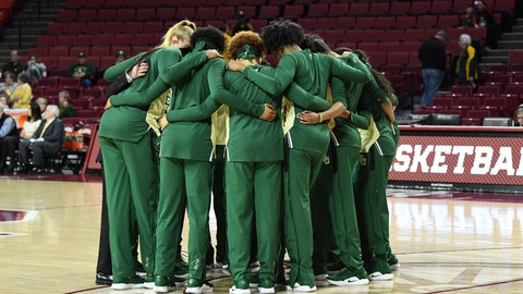 <p>               Baylor players huddle together before an NCAA college basketball game against Oklahoma in Norman, Okla., Sunday, Jan. 27, 2019. (AP Photo/June Frantz Hunt)             </p>