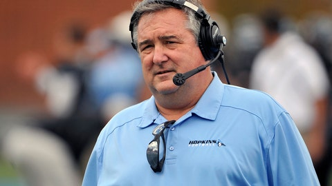 <p>               In this Nov. 2, 2013, photo, Johns Hopkins NCAA college football head coach Jim Margraff watches from the sidelines during a game against Ursinus College, in Baltimore, Md. Margraff, the winningest football coach in Johns Hopkins University's history, has died at 58. Citing a release from the Baltimore university, news outlets report the former Hopkins quarterback who led his alma mater's football program for 29 years died Wednesday, Jan. 2, 2019, at home.(Kim Hairston/The Baltimore Sun via AP)             </p>