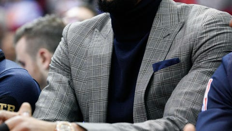 <p>               New Orleans Pelicans forward Anthony Davis watches from the bench during the first half of the team's NBA basketball game against the Houston Rockets, Tuesday, Jan. 29, 2019, in Houston. (AP Photo/Eric Christian Smith)             </p>