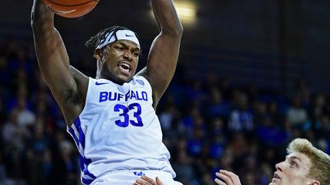 <p>               Buffalo forward Nick Perkins dunks against Toledo guard Jaelan Sanford during the first half of an NCAA college basketball game, Tuesday, Jan. 8, 2019, in Amherst, New York. (AP Photo/David Dermer)             </p>