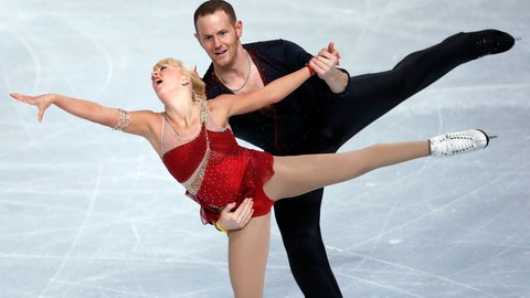 """<p>               FILE - In this Nov. 15, 2013, file photo, Caydee Denney and John Coughlin, of the United States, perform during their Pairs Short Program during the ISU Figure Skating Eric Bompard Trophy at Bercy arena in Paris. Coughlin, a two-time U.S. pairs champion recently suspended from figure skating, has died. He was 33.   U.S. Figure Skating released a statement Saturday, Jan. 19, 2019, and cited his sister, Angela Laune. The sister said in a Facebook post that her """"wonderful, strong, amazingly compassionate brother John Coughlin took his own life. ... I have no words."""" There were no further details. (AP Photo/Francois Mori, File)             </p>"""