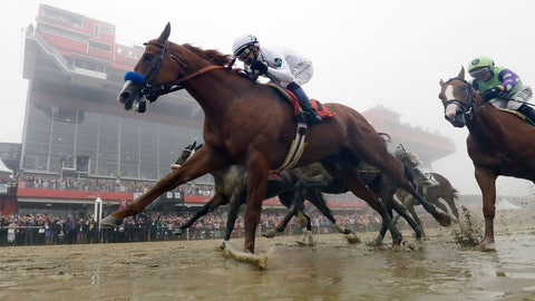<p>               FILE - In this May 19, 2018, file photo, Justify, with Mike Smith aboard, wins the 143rd Preakness Stakes horse race at Pimlico race course in Baltimore. ustify finished unbeaten, on and off the track. The Triple Crown winner for 2018 added Horse of the Year to his resume, getting the nod over Accelerate for the biggest prize handed out at the Eclipse Awards on Thursday night, Jan. 24, 2019.  (AP Photo/Patrick Semansky, File)             </p>