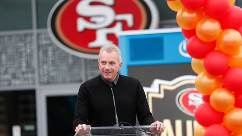 <p>               FILE - In this Oct. 21, 2018 file photo, former San Francisco 49ers quarterback Joe Montana speaks at a ceremony in Santa Clara, Calif. Hall-of-Fame quarterback Montana, looking to hit pay dirt in the legal marijuana industry, is part of a $75 million investment in a pot operator, it was announced Thursday, Jan. 24, 2019. San Jose, California-based said it will use the investment to grow a company that includes a farm, a retail store, distribution center and a delivery service. (AP Photo/Tony Avelar, File)             </p>