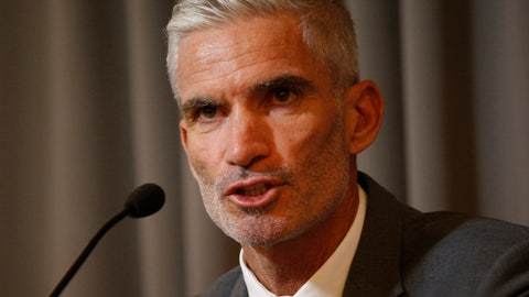 <p>               Former Australian soccer national team member Craig Foster talks to journalists at The Foreign Correspondents' Club of Thailand after meeting with detained refugee Hakeem al-Araibi in Bangkok, Thailand, Friday, Jan. 25, 2019. FIFA has written to the Thai prime minister calling for the release of a Bahraini refugee soccer player who is in detention while embroiled in an extradition case. (AP Photo/Sakchai Lalit)             </p>