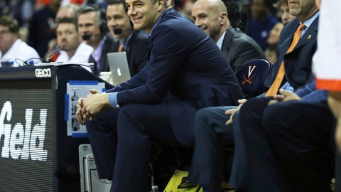 <p>               Virginia head coach Tony Bennett reacts during the second half of an NCAA college basketball game against Marshall on Monday, Dec. 31, 2018, in Charlottesville, Va. Virginia beat Marshall 100-64. (AP Photo/Zack Wajsgras)             </p>