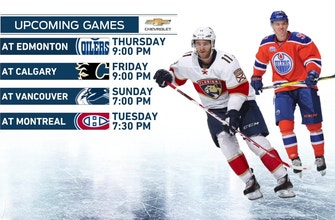 Panthers' road trip heads to Western Canada for matchup with Oilers