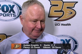 Ducks head coach Randy Carlyle comments on the 3-2 loss to the Golden Knights