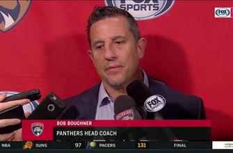 Bob Boughner reflects on Panthers' loss: 'I'm proud of the way they battled tonight'