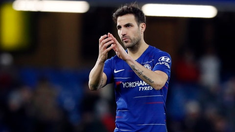 <p>               FILE - In this Saturday, Jan. 5, 2019 file photo, Chelsea's Cesc Fabregas applauds the supporters at the end of their English FA Cup third round soccer match against Nottingham Forest at Stamford Bridge in London. Struggling Monaco has boosted its relegation fight by signing experienced midfielder Cesc Fabregas from Chelsea until June 2022, it was announced Friday, Jan. 11. The deal reunites Fabregas with Thierry Henry, who played with Fabregas at Arsenal and is now Monaco's coach. (AP Photo/Alastair Grant, file)             </p>