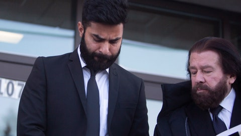 <p>               Jaskirat Singh Sidhu leaves provincial court with his lawyer Mark Brayford, right, in Melfort, Saskatchewan, Tuesday, Jan. 8, 2019. Sidhu, the driver of a transport truck involved in a bus crash that killed 16 people with the Humboldt Broncos junior hockey team in Canada last year has has pleaded guilty to all charges against him. Sidhu was charged with 16 counts of dangerous driving causing death and 13 charges of dangerous driving causing bodily harm.  (Kayle Neis/The Canadian Press via AP)             </p>