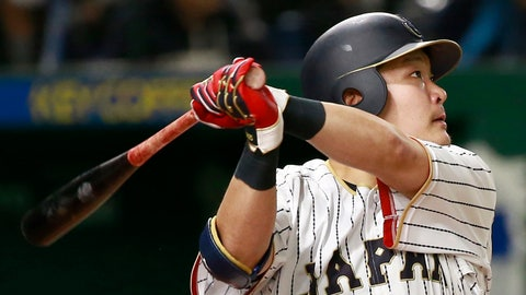 <p>               FILE - In this March 15, 2017, file photo, Japan's Yoshitomo Tsutsugo watches the flight of his solo home-run off Israel's pitcher Dylan Axelrod in the sixth inning of their second round game at the World Baseball Classic at Tokyo Dome in Tokyo. Before he pursues a career in Major League Baseball, Tsutsugo is on a mission to fix the sport in his native country. Tsutsugo said Friday, Jan. 25, 2019, after the 2018 season that he wants to play for an MLB team in the future. He will be eligible for international free agency in 2021 after 11 seasons with the Yokohama DeNA BayStars. Having already signed a contract to play for the Yokohama BayStars in 2019, the 27-year-old outfielder could go as early as 2020 via the posting the system. (AP Photo/Shizuo Kambayashi, File)             </p>