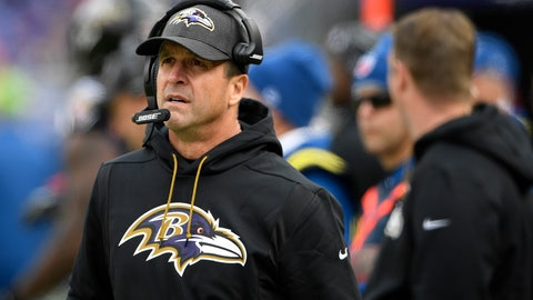<p>               FILE - In this  Sunday, Nov. 18, 2018 file photo, Baltimore Ravens head coach John Harbaugh walks on the sideline in the first half of an NFL football game against the Cincinnati Bengals in Baltimore. Ravens coach John Harbaugh has received a new four-year contract following a season in which he guided Baltimore to the AFC North title. The new deal is designed to keep the winningest coach in Ravens history under contract through the 2022 season. It replaces a pact that was slated to end after next year. (AP Photo/Nick Wass, File)             </p>