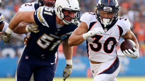 <p>               FILE - In this Nov. 18, 2018, file photo, Denver Broncos running back Phillip Lindsay (30) runs with the ball during an NFL football game against the Los Angeles Chargers in Carson, Calif. Broncos rookie running back Phillip Lindsay will attend the Pro Bowl this month as a social media correspondent on the NFL's dime. Lindsay became the first undrafted offensive player to earn a Pro Bowl selection. But a wrist injury at Oakland on Christmas Eve threatened to prevent him from attending the all-star game in Orlando, Florida, this month. (AP Photo/Peter Joneleit, File)             </p>
