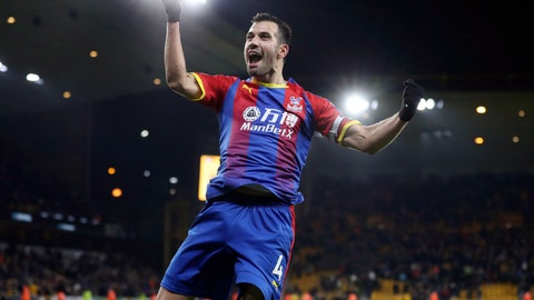 <p>               Crystal Palace's Luka Milivojevic celebrates scoring his team's second goal against Wolverhampton during a Premier League soccer match at Molineux, Wednesday, Jan. 2, 2019, in Wolverhampton, England. (David Davies/PA via AP)             </p>