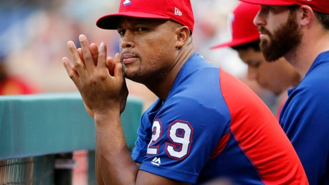 <p>               FILE - In this Aug. 14, 2018, file photo, Texas Rangers' Adrian Beltre (29) watches the team play the Arizona Diamondbacks during the first inning of a baseball game in Arlington, Texas. The Rangers are retiring Beltre's number. The team revealed the plan Friday night, Jan. 25, at the end of its winter awards program. Beltre, who had 3,166 career hits, played the last eight of his 21 big league seasons for Texas before announcing his retirement in November. The third baseman's No. 29 will be the fourth number retired by the team, during a ceremony sometime in June. (AP Photo/Michael Ainsworth, File)             </p>