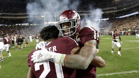 <p>               FILE - In this Nov. 24, 2018, file photo, Texas A&M wide receiver Kendrick Rogers, right, celebrates with Charles Oliver (21) after their 74-72 win in seven overtimes against LSU in an NCAA college football game in College Station, Texas. Marathon overtime games in college football, like the one Texas A&M and LSU played last season, are rare. The NCAA would like to make them extinct by tweaking its overtime format. (AP Photo/David J. Phillip, File)             </p>