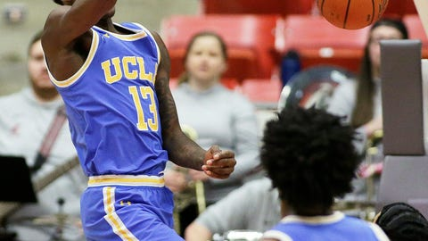 <p>               UCLA guard Kris Wilkes (13) dunks during the second half of an NCAA college basketball game against Washington State in Pullman, Wash., Wednesday, Jan. 30, 2019. UCLA won 87-67. (AP Photo/Young Kwak)             </p>