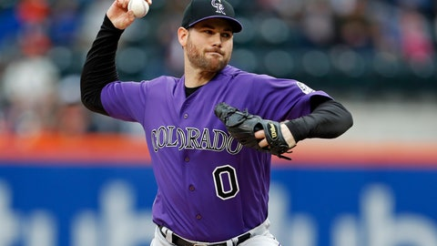 <p>               FILE - In this Sunday, May 6, 2018 file photo, Colorado Rockies relief pitcher Adam Ottavino delivers a pitch during the ninth inning of a baseball game against the New York Mets in New York. The New York Yankees finalized its $27 million, three-year contract with reliever Adam Ottavino on Thursday, Jan. 24, 2019 and said the 33-year-old right-hander will become the first player in the history of the tradition-bound team to wear No. 0.  (AP Photo/Adam Hunger, File)             </p>