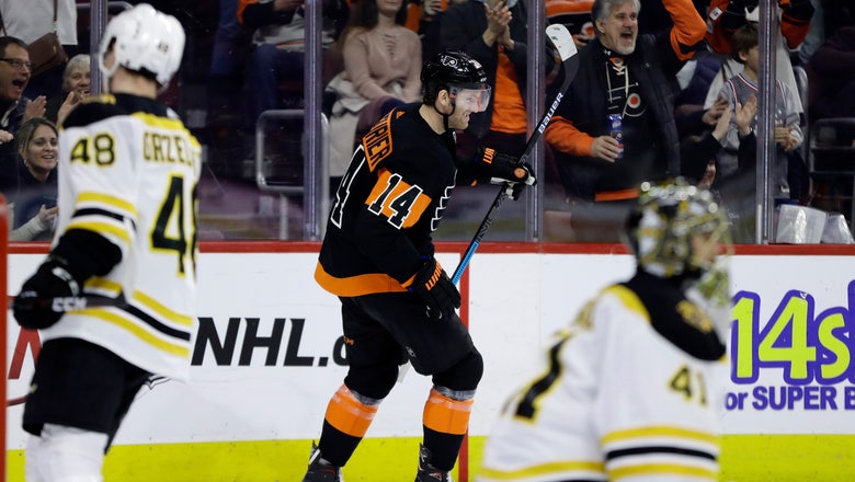 Couturier hat trick rallies Flyers past Bruins 4-3