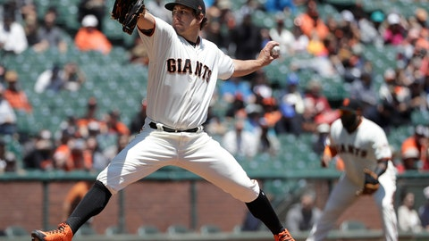 <p>               FILE - In this June 20, 2018, file photo, San Francisco Giants pitcher Derek Holland throws against the Miami Marlins during the first inning of a baseball game in San Francisco. Left-hander Derek Holland is staying with the San Francisco Giants. Holland has a $6.5 million salary this season as part of the deal announced Monday, Jan. 14, 2019, and the Giants have a $7 million option for 2020 with a $500,000 buyout. (AP Photo/Jeff Chiu, File)             </p>