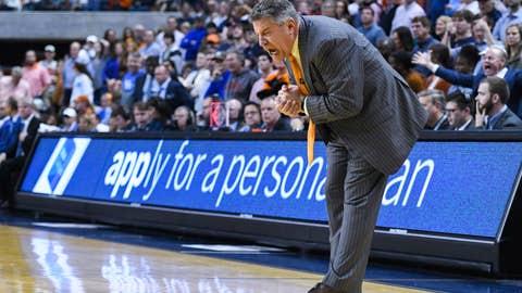<p>               Auburn head coach Bruce Pearl reacts to a play during the final minute of an NCAA college basketball game against Kentucky Saturday, Jan. 19, 2019, in Auburn, Ala. (AP Photo/Julie Bennett)             </p>