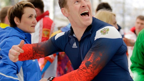 <p>               FILE - In this Sunday, Feb. 23, 2014 file photo, driver of Russia RUS-1, Alexander Zubkov, acknowledges the crowd after they won the gold medal during the men's four-man bobsled competition final at the 2014 Winter Olympics, in Krasnaya Polyana, Russia. Alexander Zubkov won a Moscow court ruling Friday Jan. 11, 2019. that could make it harder for the International Olympic Committee to recover his gold medals. He remains legally recognized as an Olympic champion _ but only in Russia. (AP Photo/Jae C. Hong, File)             </p>