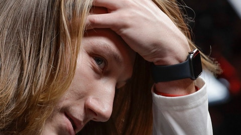 <p>               Clemson's Trevor Lawrence answers questions during media day for the NCAA college football playoff championship game Saturday, Jan. 5, 2019, in Santa Clara, Calif. (AP Photo/David J. Phillip)             </p>
