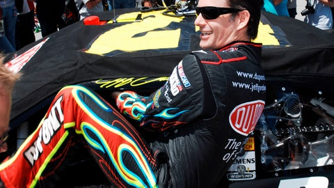 <p>               FILE - In this April 25, 2010, file photo, Jeff Gordon climbing into his car as he prepares to start the NASCAR Sprint Cup Series Aaron's 499 auto race at Talladega Superspeedway in Talladega, Ala. Gordon headlines the 10th class of the NASCAR Hall of Fame for his storied career on and off the track. He'll be inducted on Friday night, Feb. 1,2019, along with NASCAR team owners Roger Penske and Jack Roush.  (AP Photo/Rainier Ehrhardt, File)             </p>