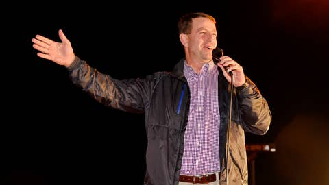 <p>               Clemson coach Dabo Swinney speaks to fans who gathered for the return of the team to campus Tuesday, Jan. 8, 2019, in Clemson, S.C., the day after the Tigers defeated Alabama 44-16 in the College Football Playoff championship game. (AP Photo/Richard Shiro)             </p>