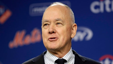 <p>               FILE - In this Jan. 17, 2018 file photo, New York Mets' general manager Sandy Alderson speaks at a news conference at Citi Field in New York. Alderson is returning to the Oakland Athletics as a senior adviser to baseball operations after previously working 17 seasons with the club in various capacities. (AP Photo/Seth Wenig, File)             </p>