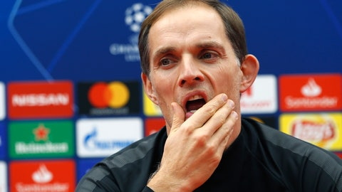 <p>               FILE - In this Tuesday, Dec. 10, 2018 file photo, PSG coach Thomas Tuchel gestures during a press conference prior to the Champions League group C soccer match between Red Star and Paris Saint Germain, in Belgrade, Serbia. Tuchel had better do well in the Champions League. There's one month to go before PSG faces Manchester United in the last 16 of the competition, which gives Tuchel some time to get his tactics right against Ole Gunnar Solskjaer's resurgent side. (AP Photo/Darko Vojinovic, File)             </p>