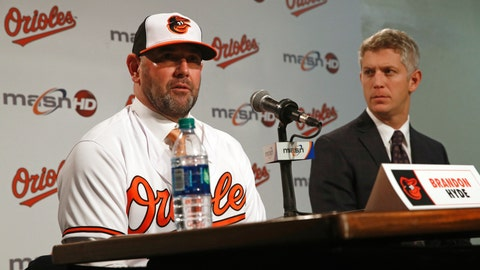 <p>               FILE - In this Dec. 17, 2018, file photo,  Baltimore Orioles manager Brandon Hyde, left, speaks alongside executive vice president and general manager Mike Elias during a baseball news conference in Baltimore. Elias and Hyde cautioned fans on Saturday, Jan. 26, 2019, that there will be no quick fix for a franchise that underwent a complete overhaul during and after the worst season in Orioles history. (AP Photo/Patrick Semansky, File)             </p>