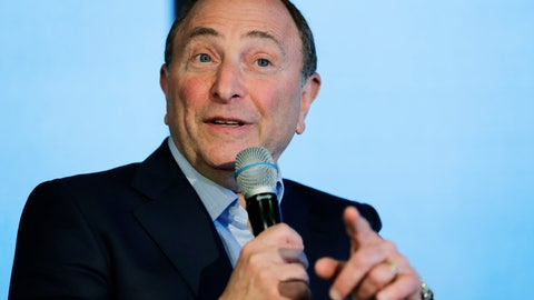 <p>               NHL Commissioner Gary Bettman speaks Wednesday, Jan. 9, 2019, during a news conference in Seattle. Bettman said the NHL has promised Seattle it will host the hockey All-Star Game within its first seven seasons. (AP Photo/Ted S. Warren)             </p>
