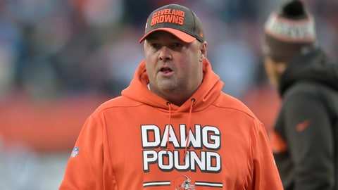 <p>               FILE - In this Dec. 9, 2018, file photo, Cleveland Browns offensive coordinator Freddie Kitchens walks on the field after an NFL football game against the Carolina Panthers, in Cleveland. A person familiar with the decision says the Cleveland Browns are hiring Freddie Kitchens as their coach.  Kitchens, who had a dazzling eight-week run as the team's interim offensive coordinator, is finalizing his contract and will be named Cleveland's ninth coach since 1999, said the person who spoke Wednesday, Jan. 9, 2019, to the Associated Press on condition of anonymity because the team is not commenting on the imminent hire. (AP Photo/David Richard, File)             </p>