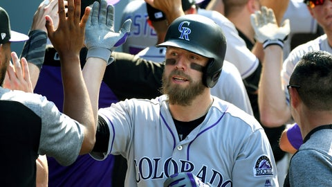<p>               FILE - In this Sunday, Sept. 10, 2017 file photo, Colorado Rockies' Mark Reynolds is congratulated in the dugout after hitting a grand slam in the eighth inning of a baseball game against the Los Angeles Dodgers in Los Angeles. First baseman Mark Reynolds says he has agreed to a minor-league contract with the Colorado Rockies, Wednesday, Jan. 30, 2019. The 35-year-old Reynolds spent 2016 and '17 with the Rockies before joining Washington last season. (AP Photo/Michael Owen Baker, File)             </p>