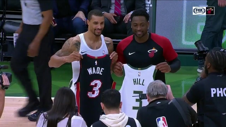 One Last Dance: Dwyane Wade swaps jerseys with George Hill after Heat-Bucks game