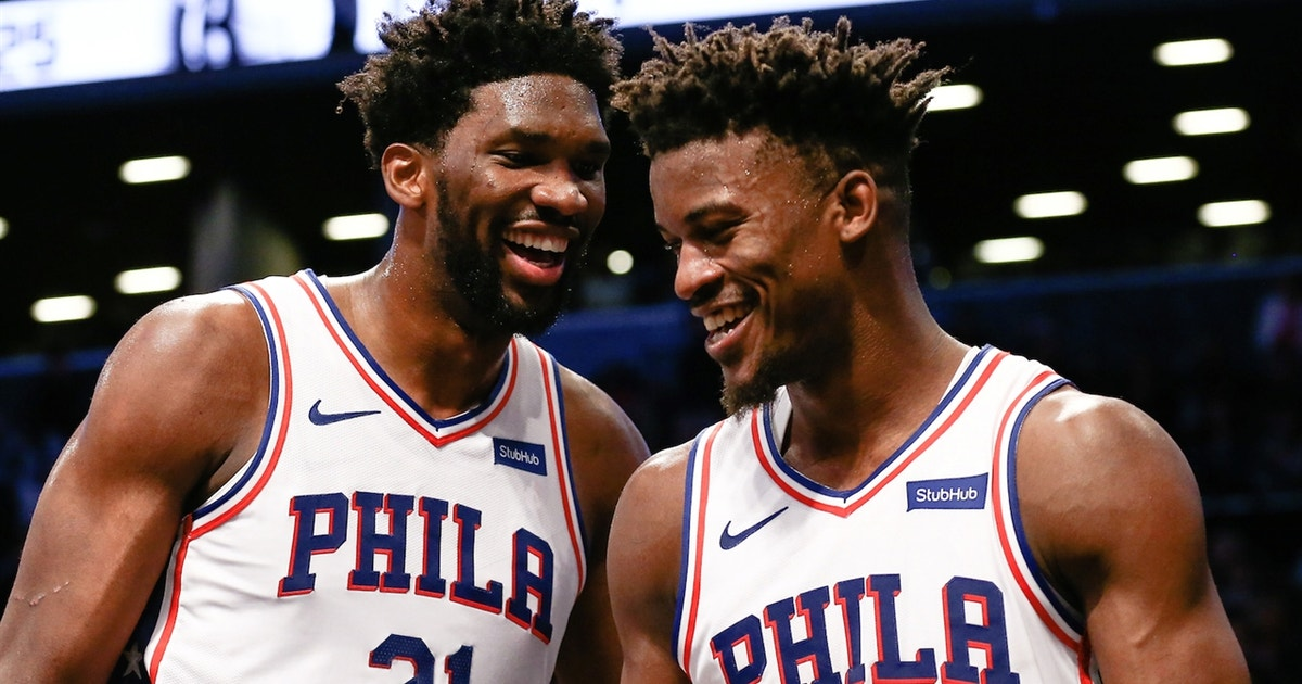 2b0eef40347 Skip and Shannon comment on Jimmy Butler and Joel Embiid trolling the  Timberwolves