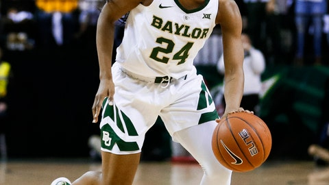 <p>               In this Jan. 3, 2019, photo, Baylor guard Chloe Jackson runs the offense during an NCAA college basketball game against Connecticut in Waco, Texas. Jackson took an unusual path to being the starting point guard for top-ranked Baylor and coach Kim Mulkey. (AP Photo/Ray Carlin)             </p>