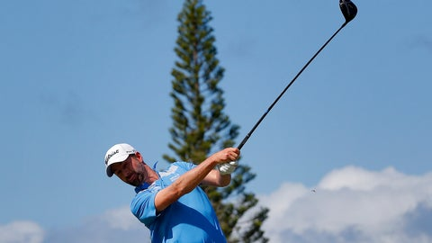 <p>               Webb Simpson plays his shot from the third tee during the second round of the Tournament of Champions golf event Friday, Jan. 4, 2019, at Kapalua Plantation Course in Kapalua, Hawaii. (AP Photo/Matt York)             </p>