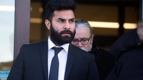 <p>               Jaskirat Singh Sidhu leaves provincial court in Melfort, Saskatchewan, Tuesday, Jan. 8, 2019. Sidhu, the driver of a transport truck involved in a bus crash that killed 16 people with the Humboldt Broncos junior hockey team in Canada last year has has pleaded guilty to all charges against him. Sidhu was charged with 16 counts of dangerous driving causing death and 13 charges of dangerous driving causing bodily harm.  (Kayle Neis/The Canadian Press via AP)             </p>