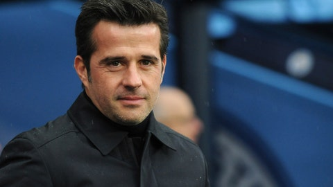 <p>               FILE - In this Saturday, Dec. 15, 2018 file photo, Everton manager Marco Silva prior the English Premier League soccer match between Manchester City and Everton at Etihad stadium in Manchester, England. Silva is the latest top-flight coach to come under big pressure, after Everton's slump in results in the league was followed, on Saturday Jan. 26, 2019, by the team's elimination from the FA Cup by an opponent in the lower reaches of the second tier. (AP Photo/Rui Vieira, File)             </p>