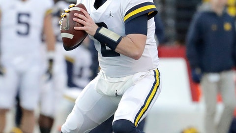 <p>               FILE - In this Nov. 10, 2018, file photo, Michigan quarterback Shea Patterson looks to pass against Rutgers during the first half of an NCAA college football game, in Piscataway, N.J. The NCAA quietly made a big change last year that helped quarterback Shea Patterson play for Michigan and will determine whether Justin Fields is eligible this fall at Ohio State.(AP Photo/Julio Cortez, File)             </p>