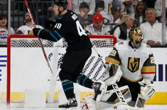 Sharks get late goals to rally past Golden Knights 3-2