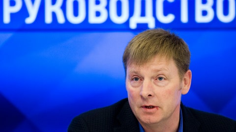 <p>               FILE - In this file photo dated Wednesday, Nov. 29, 2017, Alexander Zubkov, Olympic champion and President of the Russian Bobsleigh Federation, speaks to the media at a news conference on Russian athletes' disqualification by the International Olympic Committee in Moscow, Russia.  Four Russian bobsledders, including Alexander Zubkov, have been Wednesday Jan. 16, 2019, by the International Bobsled and Skeleton Federation until 2020 for their part in organized doping at the 2014 Sochi Olympics.(AP Photo/Alexander Zemlianichenko, FILE)             </p>