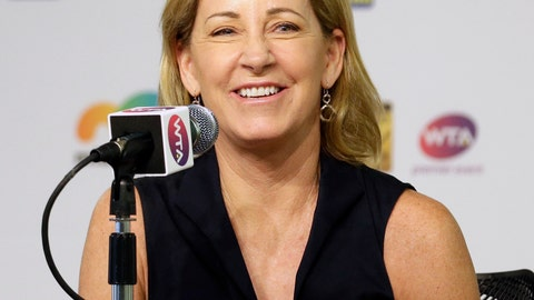 <p>               FILE - In this March 23, 2016, file photo, Chris Evert smiles while talking to reporters at the Miami Open tennis tournament in Key Biscayne, Fla. Evert has been chosen to chair the USTA Foundation's board of directors, serving as a spokeswoman and ambassador for the U.S. Tennis Association's charitable arm. The 18-time Grand Slam champion and member of the International Tennis Hall of Fame takes over as chair from James Blake. (AP Photo/Alan Diaz, File)             </p>