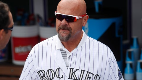 <p>               File-This June 23, 2018, file photo shows retired Colorado Rockies outfielder Larry Walker during picture day for the Rockies before a baseball game in Denver. Walker made a significant leap in Hall of Fame voting only to fall short in his ninth year on the ballot. The longtime player for the Montreal Expos, Colorado Rockies and St. Louis Cardinals finished with 54.6 percent. That was up more than 20 percent from a year ago. He thinks analytics may have boosted his case. (AP Photo/David Zalubowski, File)             </p>
