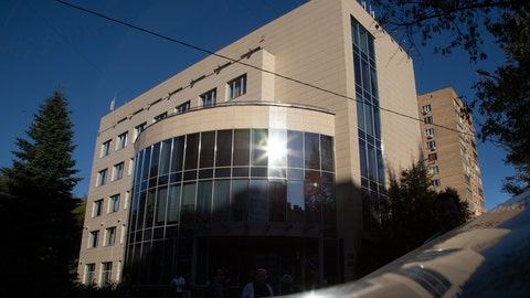 <p>               FILE - In this file photo dated Thursday, Sept. 20, 2018, Russian National Anti-doping Agency RUSADA building in Moscow, Russia. The World Anti-Doping Agency, WADA, officials are due to arrive in Moscow on Wednesday Jan. 9, 2019, seeking the release of lab data to help prove potential charges against numerous Russian athletes, but RUSADA has already missed the Dec. 31, 2018 deadline. (AP Photo/Alexander Zemlianichenko, FILE)             </p>